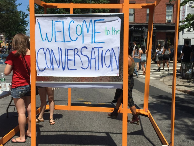 Welcome to the Conversation art booth
