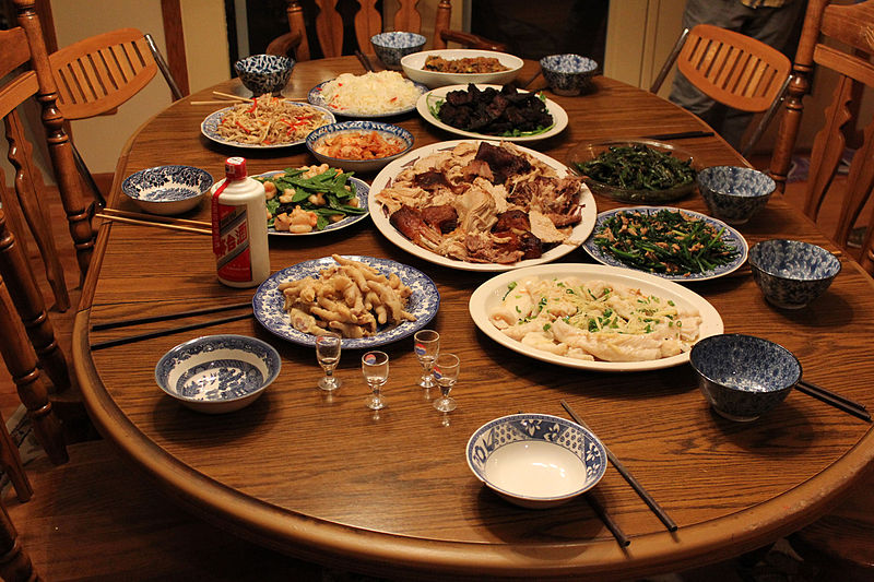 Some Chinese dishes eaten by my family on Thanksgiving (Photo Courtesy of Yinan Chen)