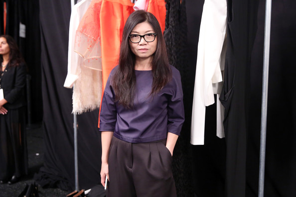 Taoray backstage at last year's Mercedes-Benz NYFW (Credit: Cindy Ord)