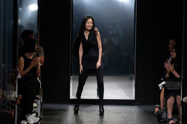 Vera Wang at her Spring 2016 fashion show at NYFW (Credit: JP Yim)