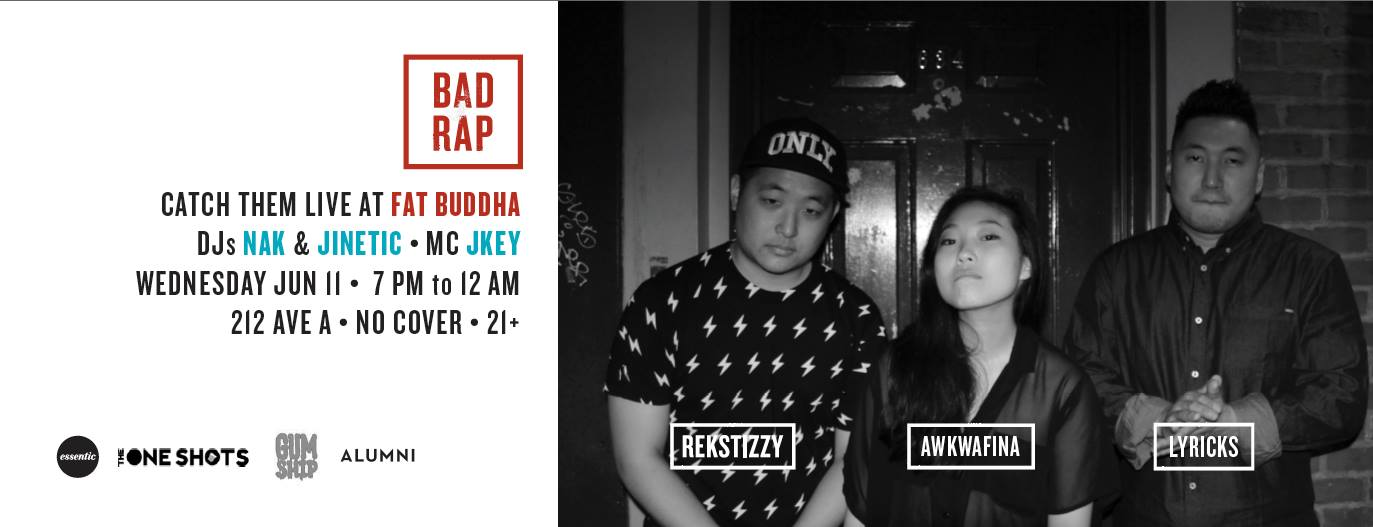 Bad Rap — Watch Awkwafina, Rekstizzy, and Lyricks Live Tonight!