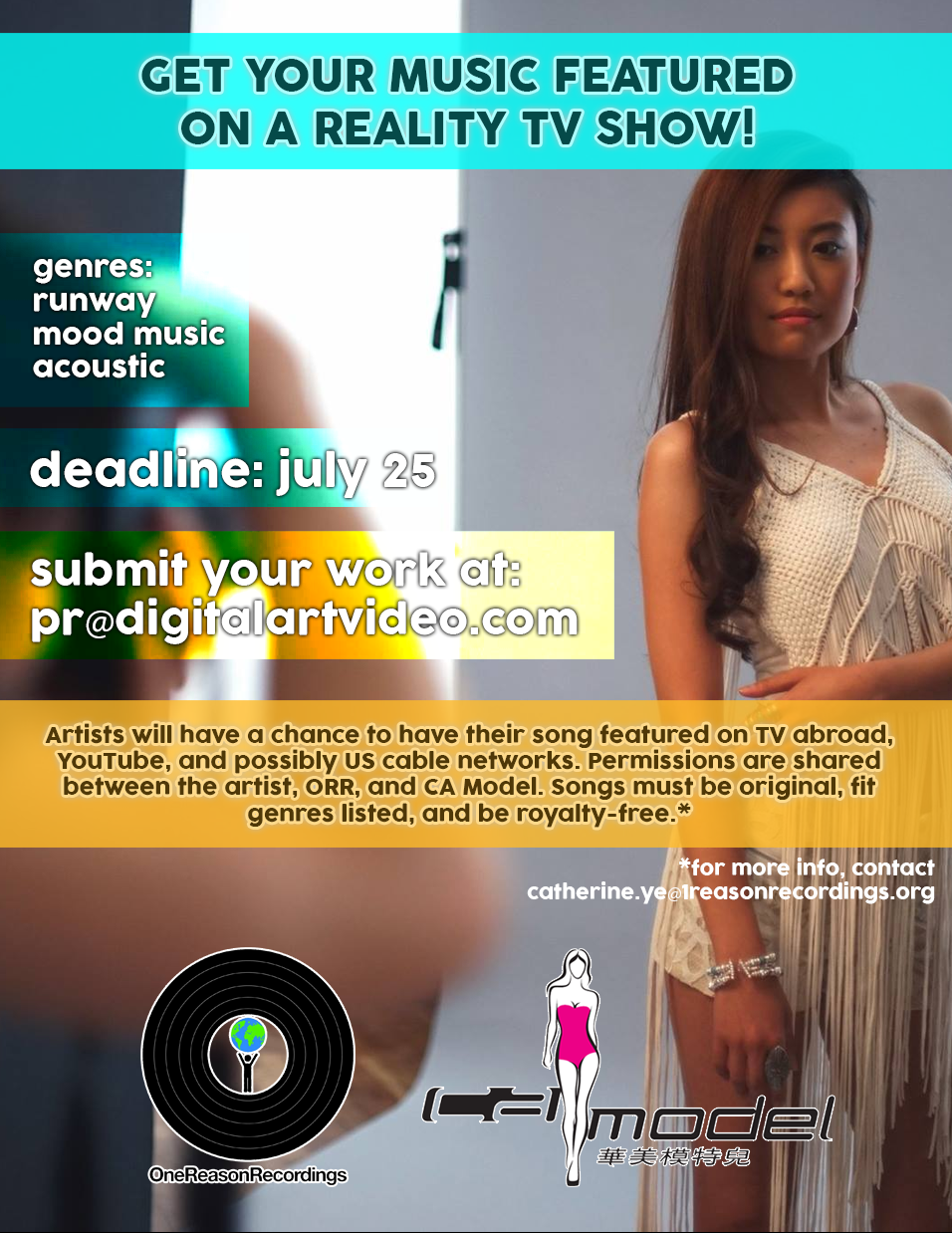 Have Your Music Featured on a Reality Show and Runway!