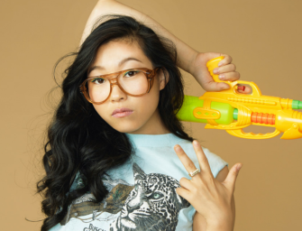 Awkwafina tawks about the identity of a satirical rapper