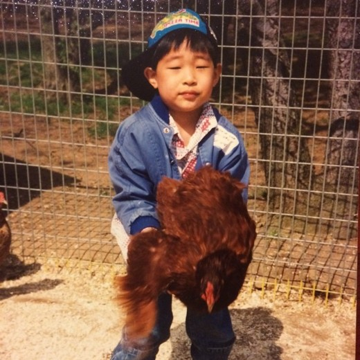 Young Rekstizzy and his Chicken Credit: David Lee
