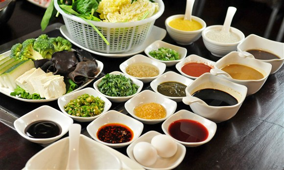 Hot Pot Sauces - Photo Courtesy of Phenu