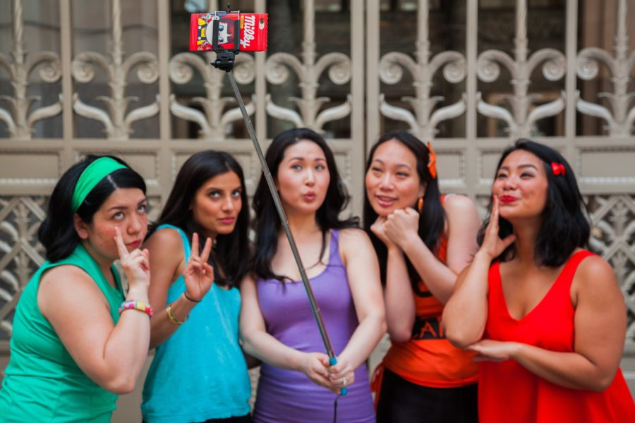 From left to right: Anna Suzuki, Maya Deshmukh, Ann Marie Yoo, Angel Yau, Iliana Inocencio (Credit: AzN PoP)